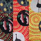 BUSH TUCKER WITH WILD FIG BLACK by Aboriginal Artist NATASHA STUART