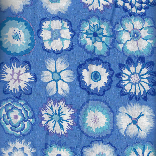 BUTTON FLOWERS BLUE - Spring 2016