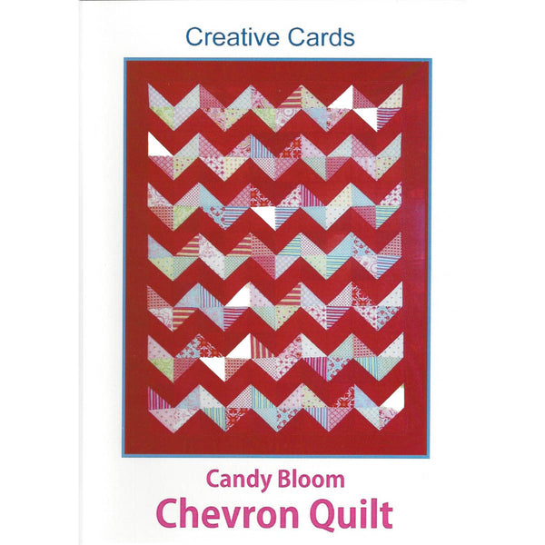 CANDY BLOOM CHEVRON QUILT - Creative Pattern Card - by Australian Designer Rosalie Dekker (Quinlan)
