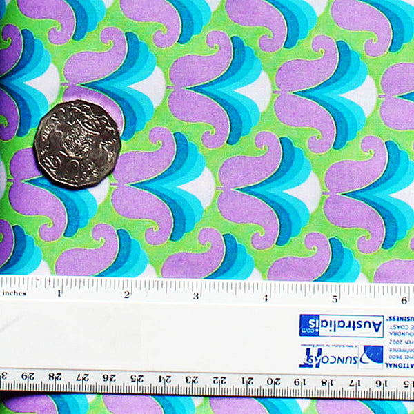 CHLOE PURPLE/GREEN - 60's Scrapbag