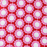 CIRCLE FLOWERS Red/Pink/White - Flower Child Collection by Rosalie Quinlan