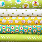 BACKYARD CIRCUS GREEN  - FQ Bundle of 5 - Ella Blue Fabrics