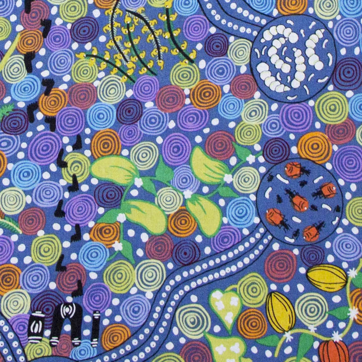 CORROBOREE BLUE by Australian Aboriginal Artist  DONNA MC NAMARA