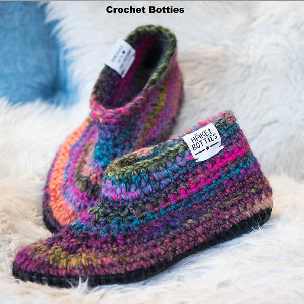 Botties SLIPPER SOLE & INSOLE SET + Choice of 1 Pattern to Knit, Crochet or Sew)