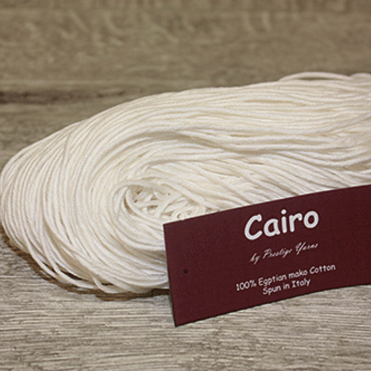 PY CAIRO Ecru/Undyed 100% Egyptian Mako cotton 8ply/DK/Lt Worsted 100g/250 metres