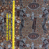 DANCING SPIRIT BROWN by Australian Aboriginal Artist COLLEEN WALLACE