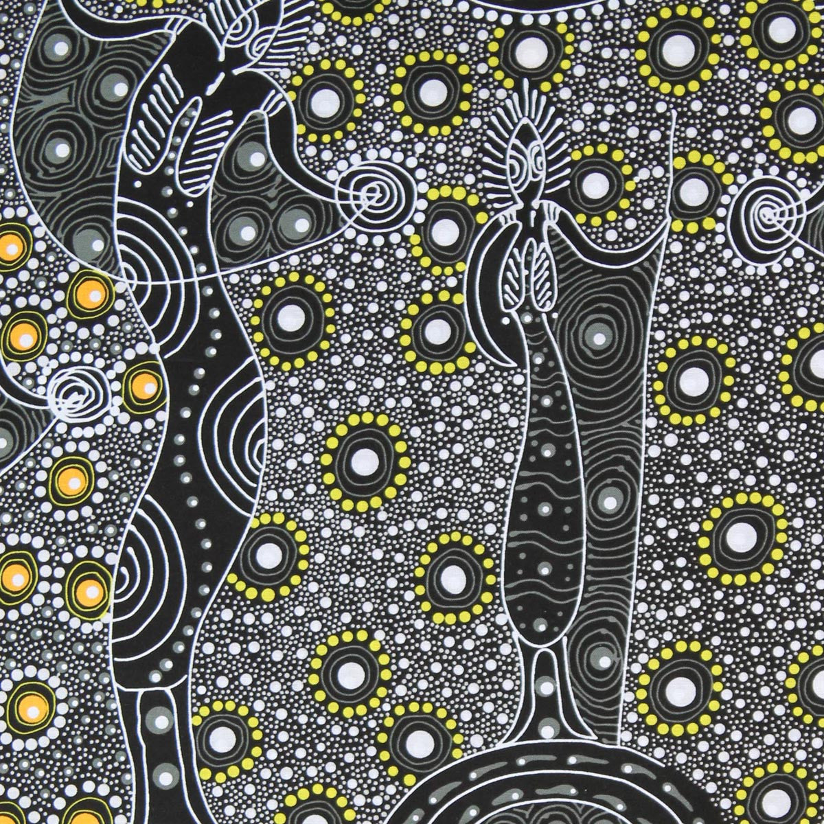 DANCING SPIRIT CHARCOAL by Australian Aboriginal Artist COLLEEN WALLACE