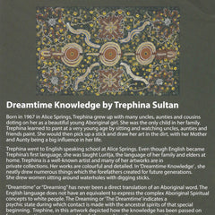 DREAMTIME KNOWLEDGE BLUE by Aboriginal Artist TREPHINA SULTAN