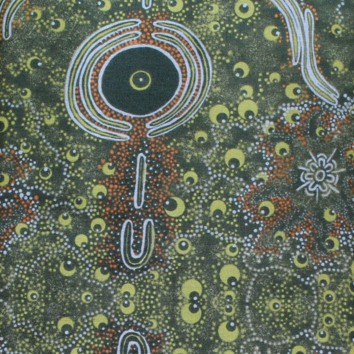 DREAMTIME KNOWLEDGE GREEN by Aboriginal Artist TREPHINA SULTAN
