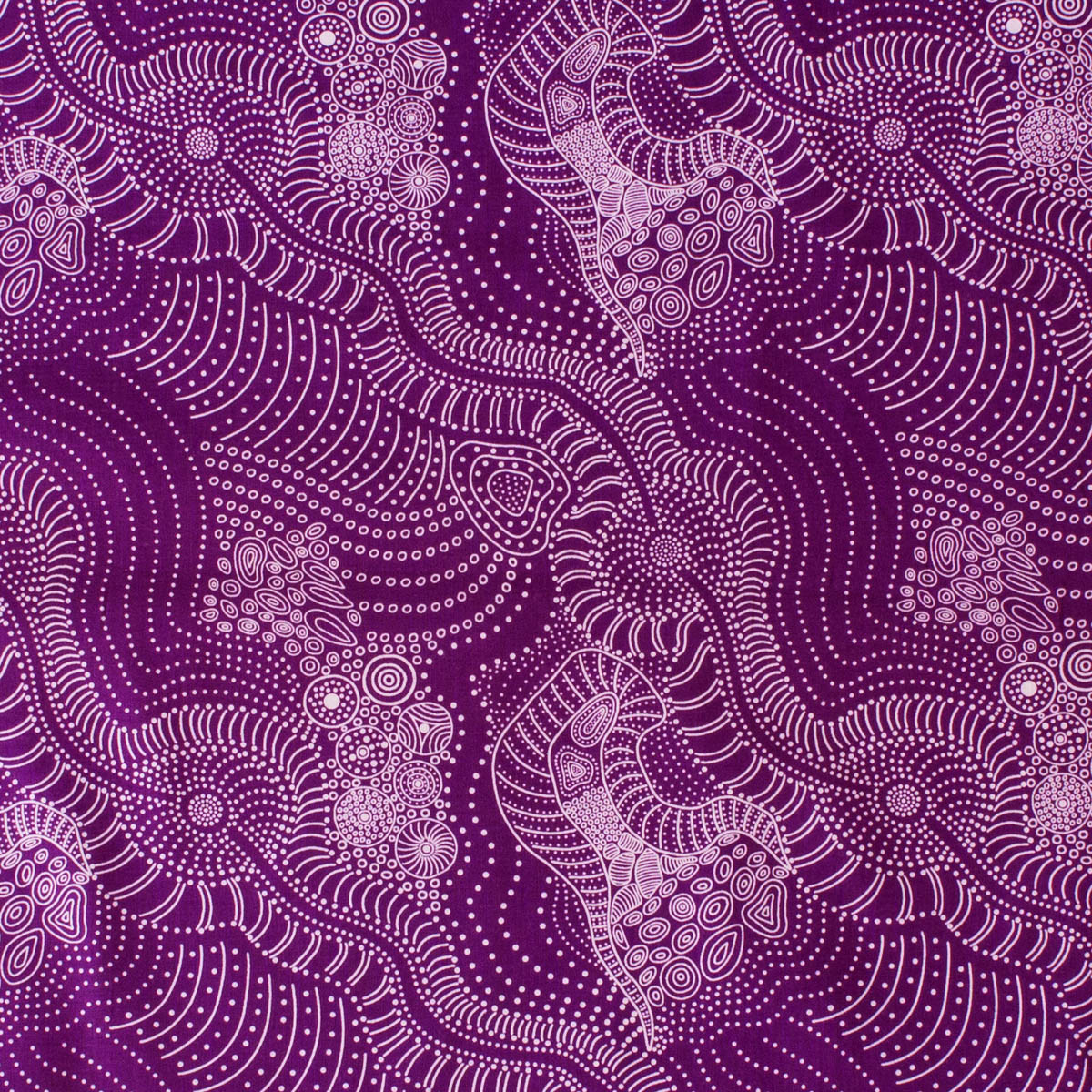 DREAMTIME RIVERBED PURPLE by Aboriginal Artist Anna Pitjara