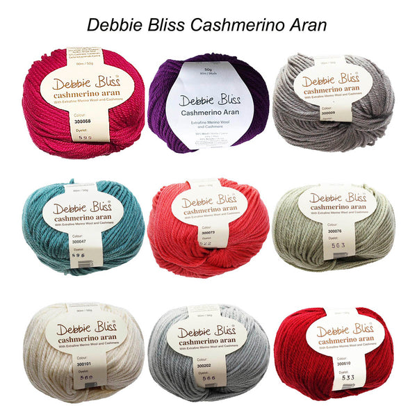 CASHMERINO ARAN  50g/90m 10ply/Aran/Worsted CHOOSE COLOUR