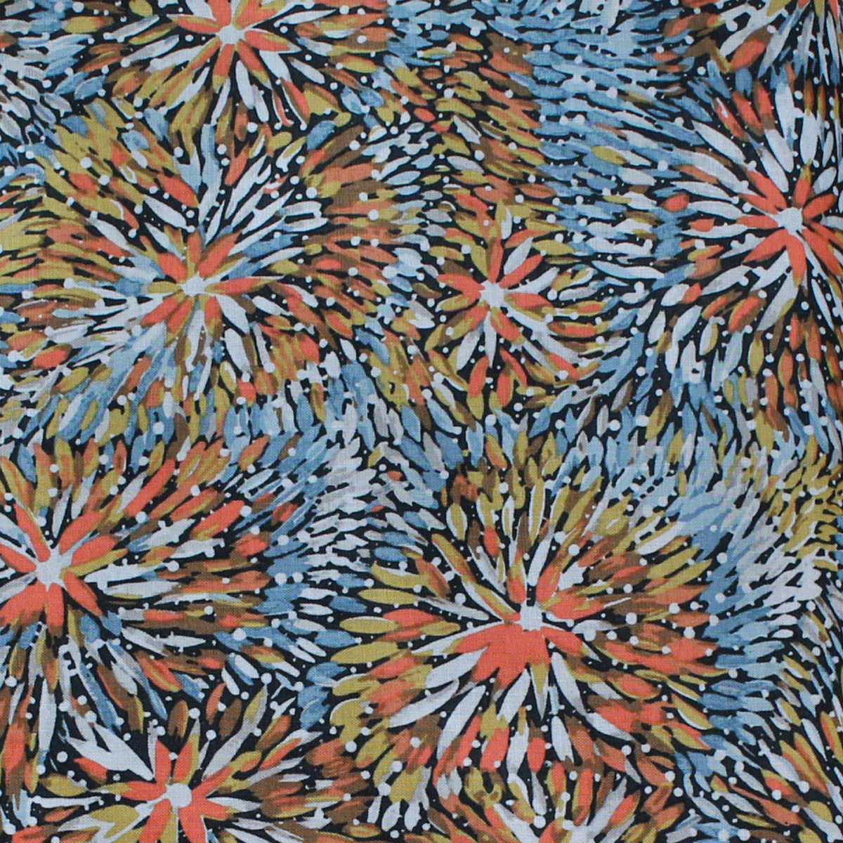 EMU BUSH BLUE by Australian Aboriginal Artist BARBARA EGAN