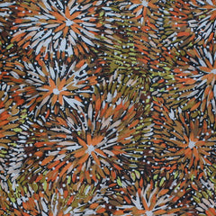 EMU BUSH BROWN by Australian Aboriginal Artist BARBARA EGAN