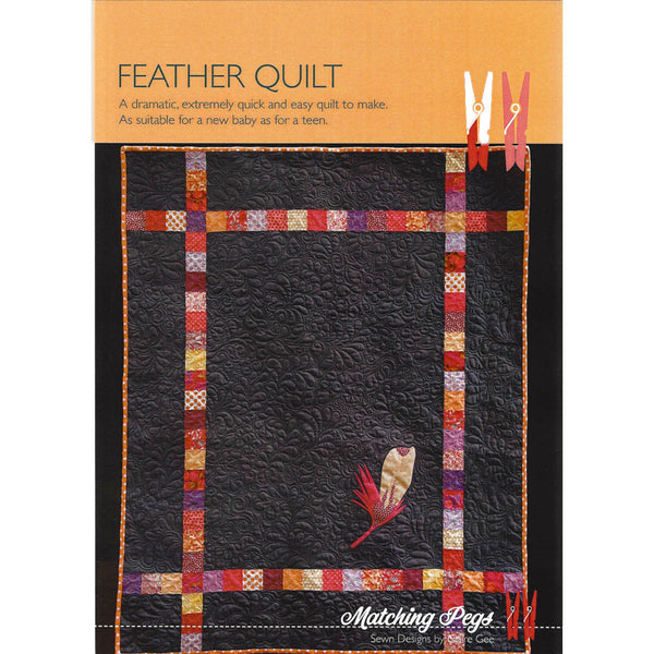 FEATHER QUILT - Pattern - by Australian Designer Claire Gee of Matching Pegs