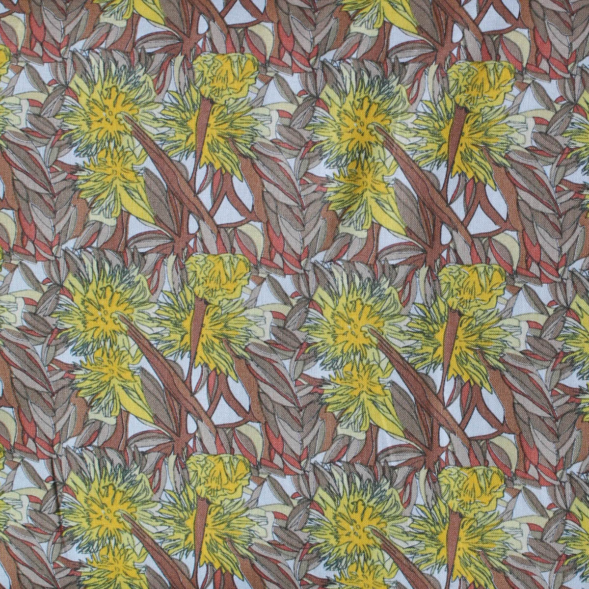 FLOWERING GUM GOLD by Aboriginal Artist ADAM CAMILLERI