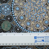FRESH LIFE AFTER RAIN BLACK by Australian Aboriginal Artist CHRISTINE DOOLAN