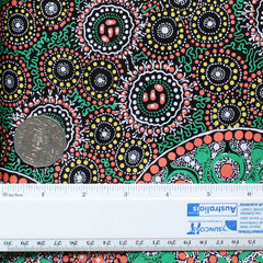 FRESH LIFE AFTER RAIN GREEN by Australian Aboriginal Artist CHRISTINE DOOLAN