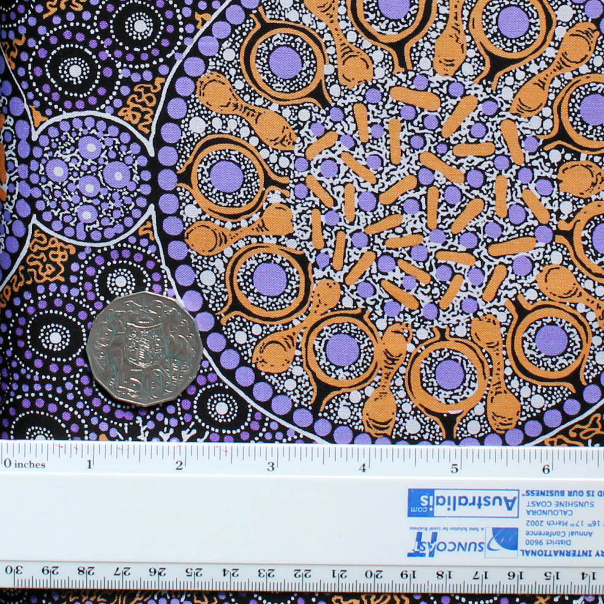 FRESH LIFE AFTER RAIN PURPLE by Australian Aboriginal Artist CHRISTINE DOOLAN