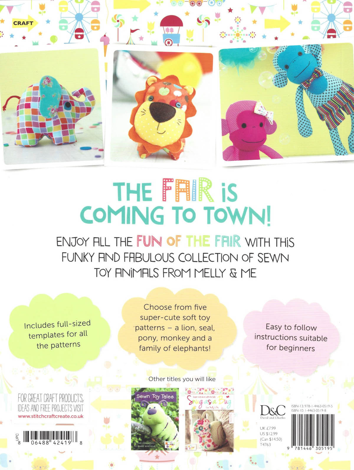 FUN OF THE FAIR  - Stuffed Animal Toy Pattern Book by Melanie McNeice