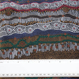 GATHERING BY THE CREEK BROWN by Aboriginal Artist Janet Long Nakamarra