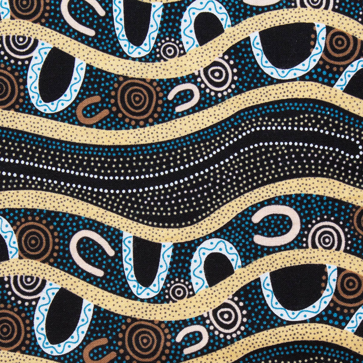 GATHERING BY THE RIVER BLACK by Australian Aboriginal Artist BARBARA EGAN