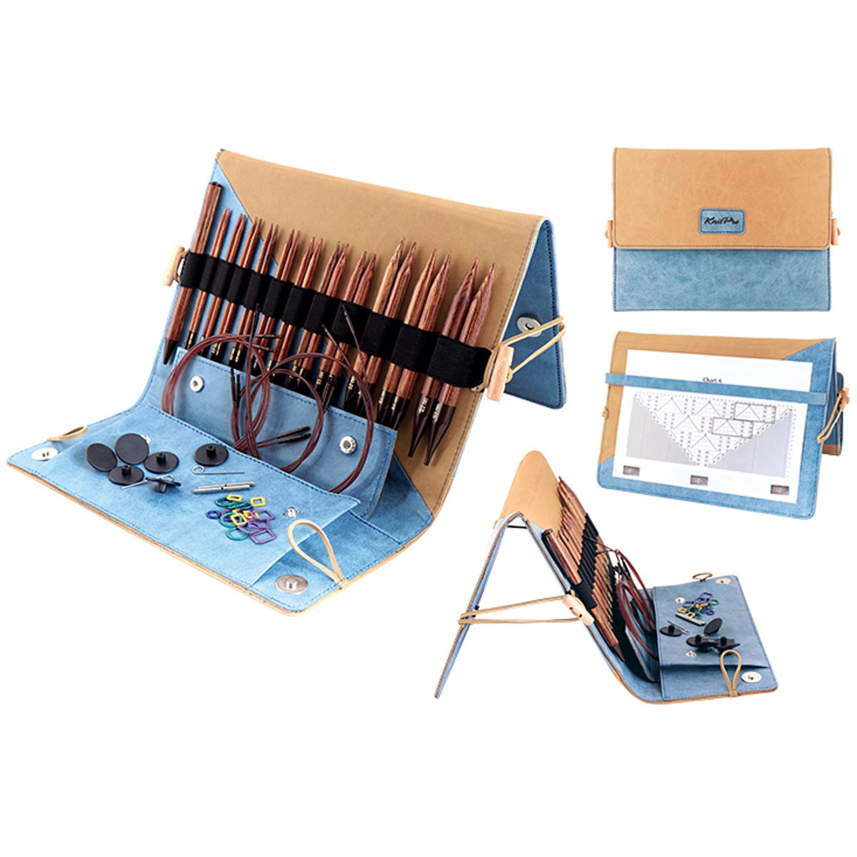 KnitPro (31281) GINGER DELUXE IC Knitting Needle Set of 11 Pairs+Case+Extras