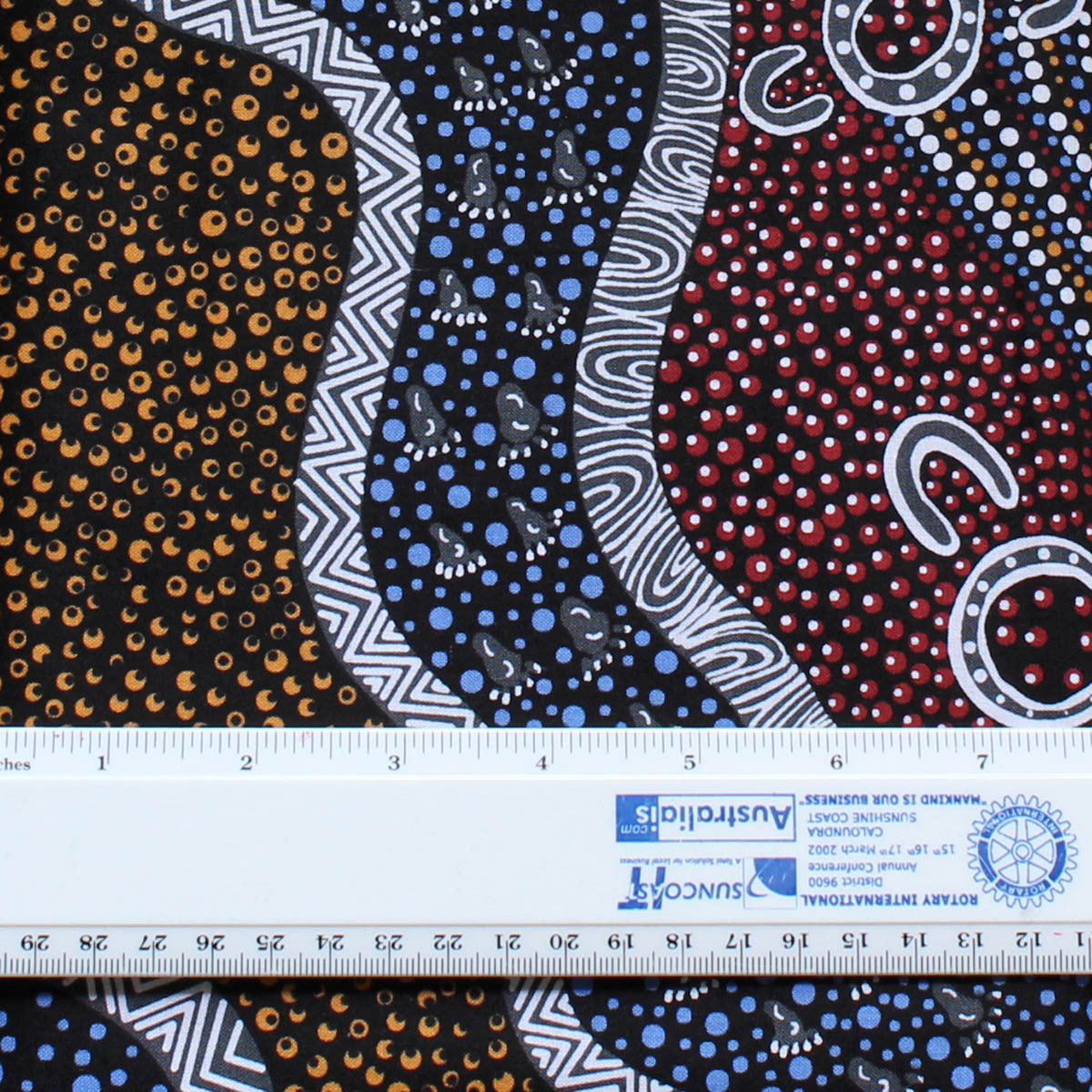 GOANNA DREAMING BLACK by Aboriginal Artist HEATHER KENNEDY