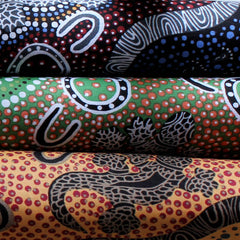 GOANNA DREAMING YELLOW by Aboriginal Artist HEATHER KENNEDY
