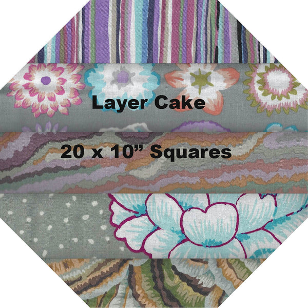 "GREY #1 - Layer Cake - 20 Squares 10"" x 10"""