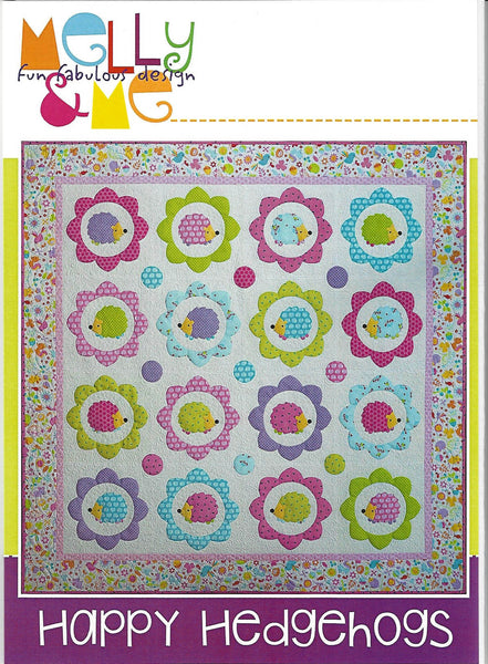 HAPPY HEDGEHOGS QUILT  - Quilt Pattern  - by Australian Designers Melly & Me