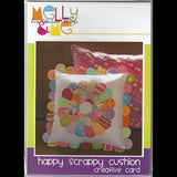 HAPPY SCRAPPY CUSHION -  Creative Pattern Card - by Australian Designer Melanie McNeice
