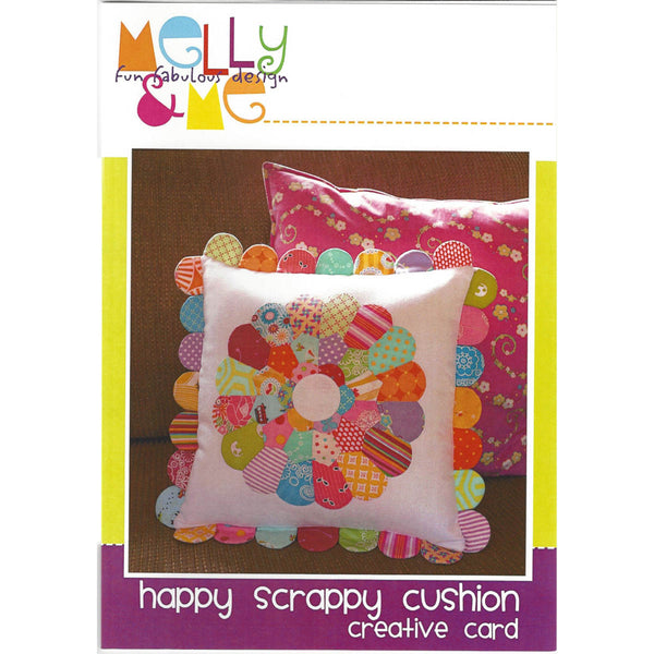HAPPY SCRAPPY CUSHION - Creative Pattern Card - by Australian Designer Melanie McNeice for Melly & Me
