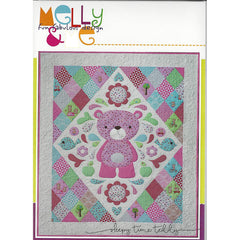 SLEEPY TIME TEDDY Quilt Pattern with Template - by Australian Designers Melly & Me