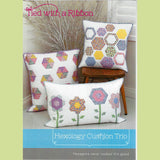 HEXOLOGY CUSHION TRIO - Pattern - by Australian Designer Jemima Flendt - brand:  Tied With A Ribbon