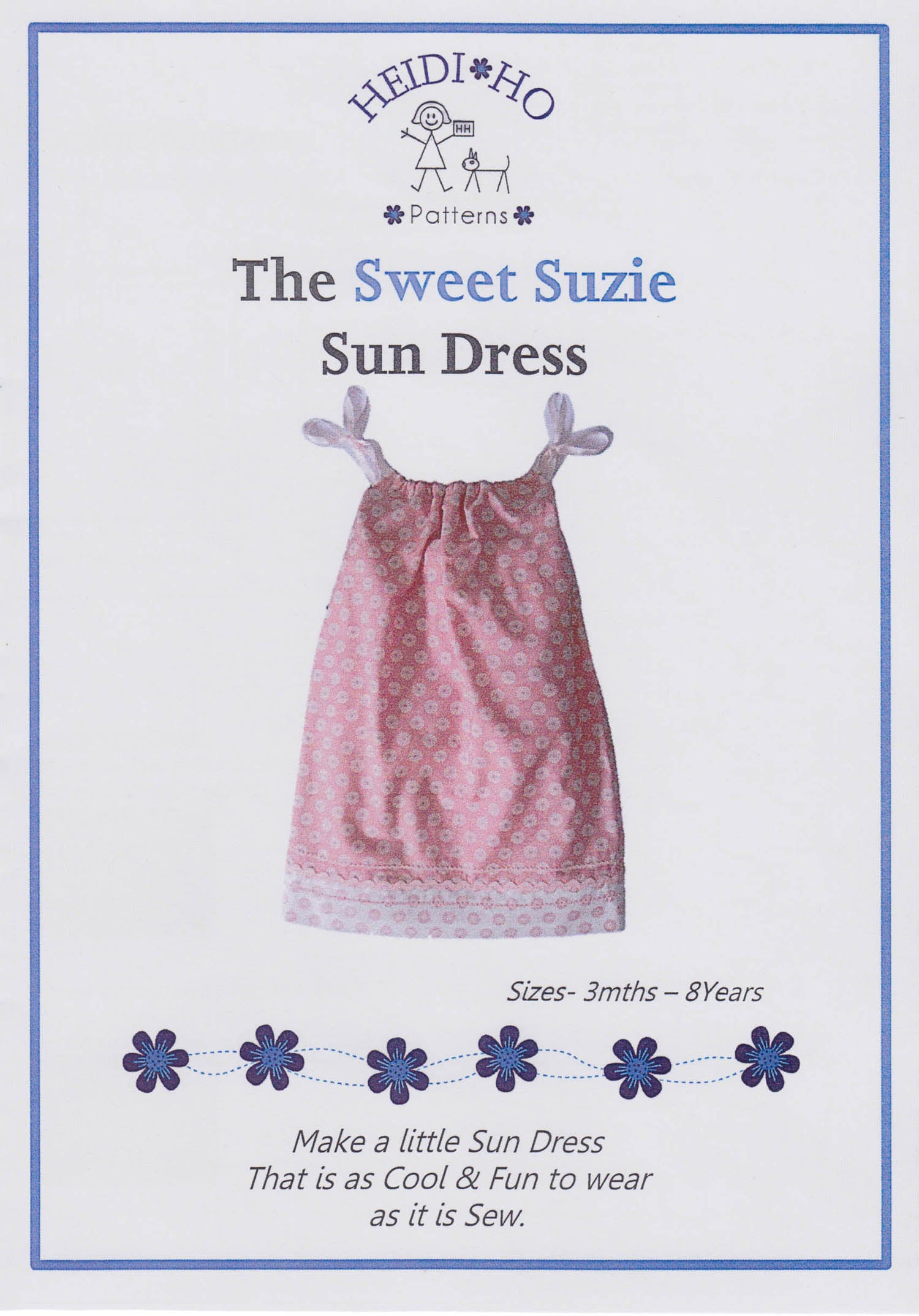 Sweet Suzie Sun Dress - Pattern - by Australian Designer Heidi Ho Patterns