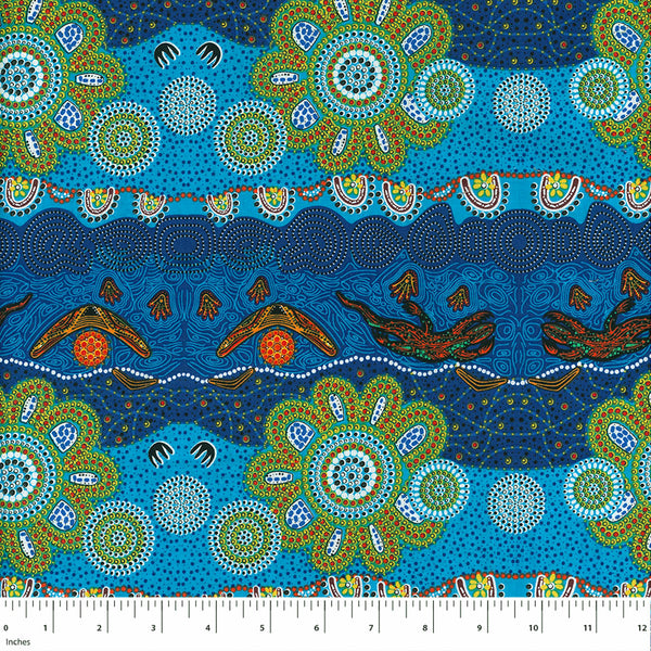 HOME COUNTRY BLUE by Aboriginal Artist TAMARA MURRAY MAY