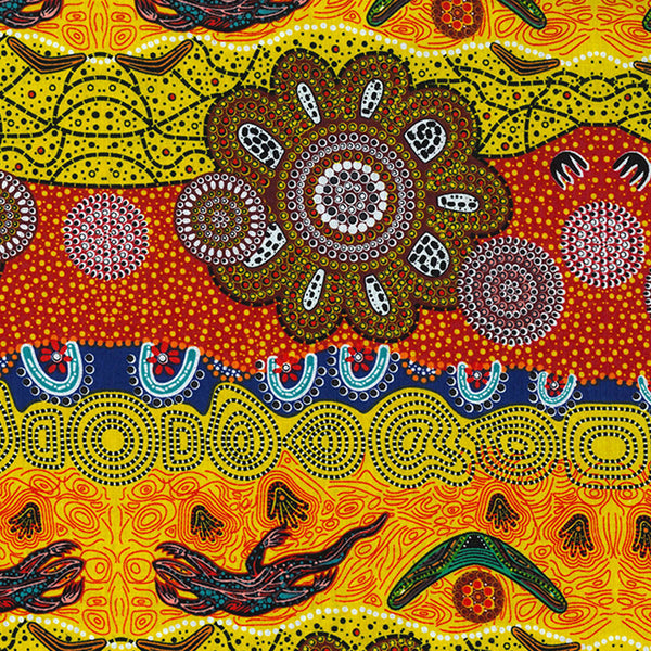 HOME COUNTRY GOLD by Aboriginal Artist TAMARA MURRAY MAY