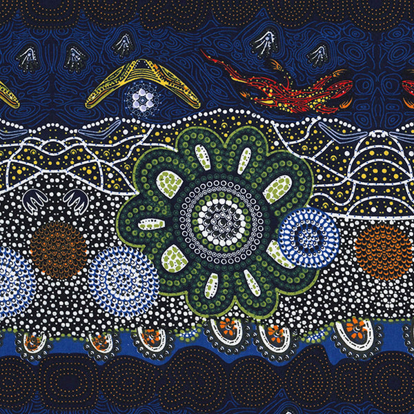 HOME COUNTRY GREEN by Aboriginal Artist TAMARA MURRAY MAY