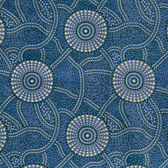 KANGAROO PATH BLUE by Aboriginal Artist ROSEANNE MORTON