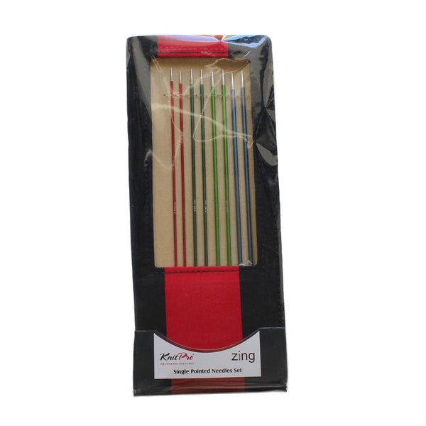 KNITTING NEEDLES - KNIT PRO - ZING - Set of 8 Pair - Single Point