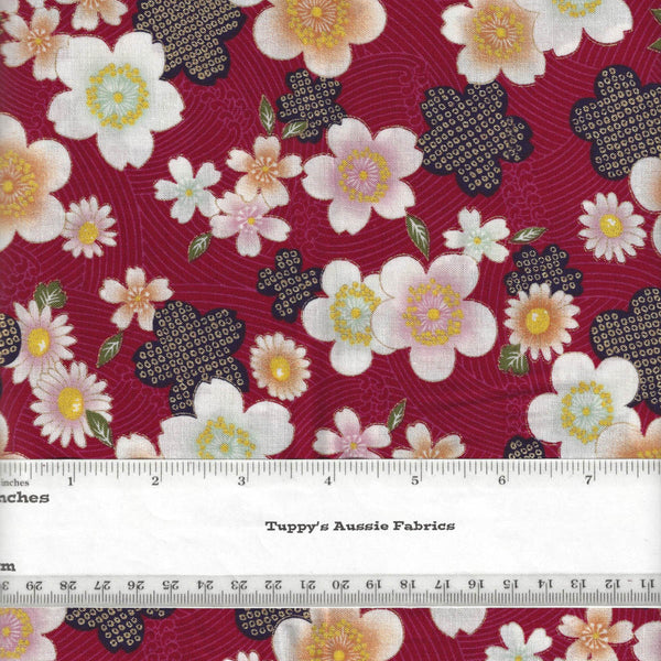 KOGANE BLOSSOMS RED #1 - Sevenberry Japan