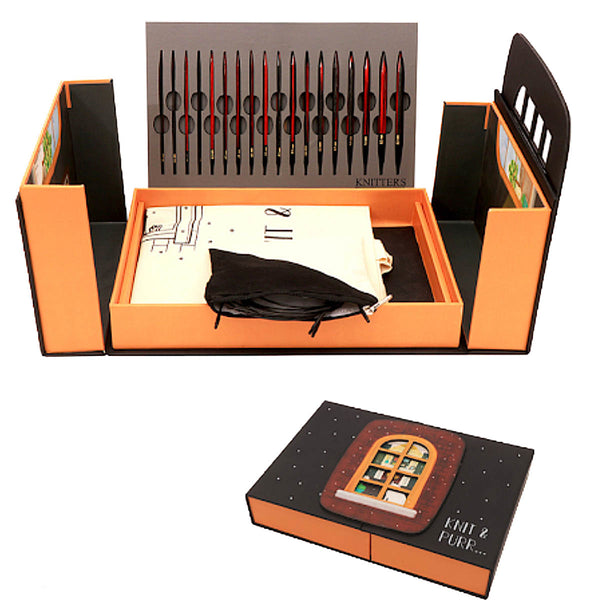 Knit Pro - KNIT & PURR GIFT SET -  9 Pair of Interchangeable Knitting Needles - Limited Edition