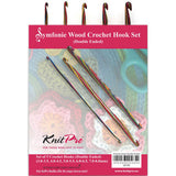 KnitPro 20730 SYMFONIE WOOD CROCHET HOOK SET of 5 (Double Ended)
