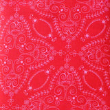 FLOWER CHILD PINK/RED  - FQ Bundle of 5 - Ella Blue Fabrics