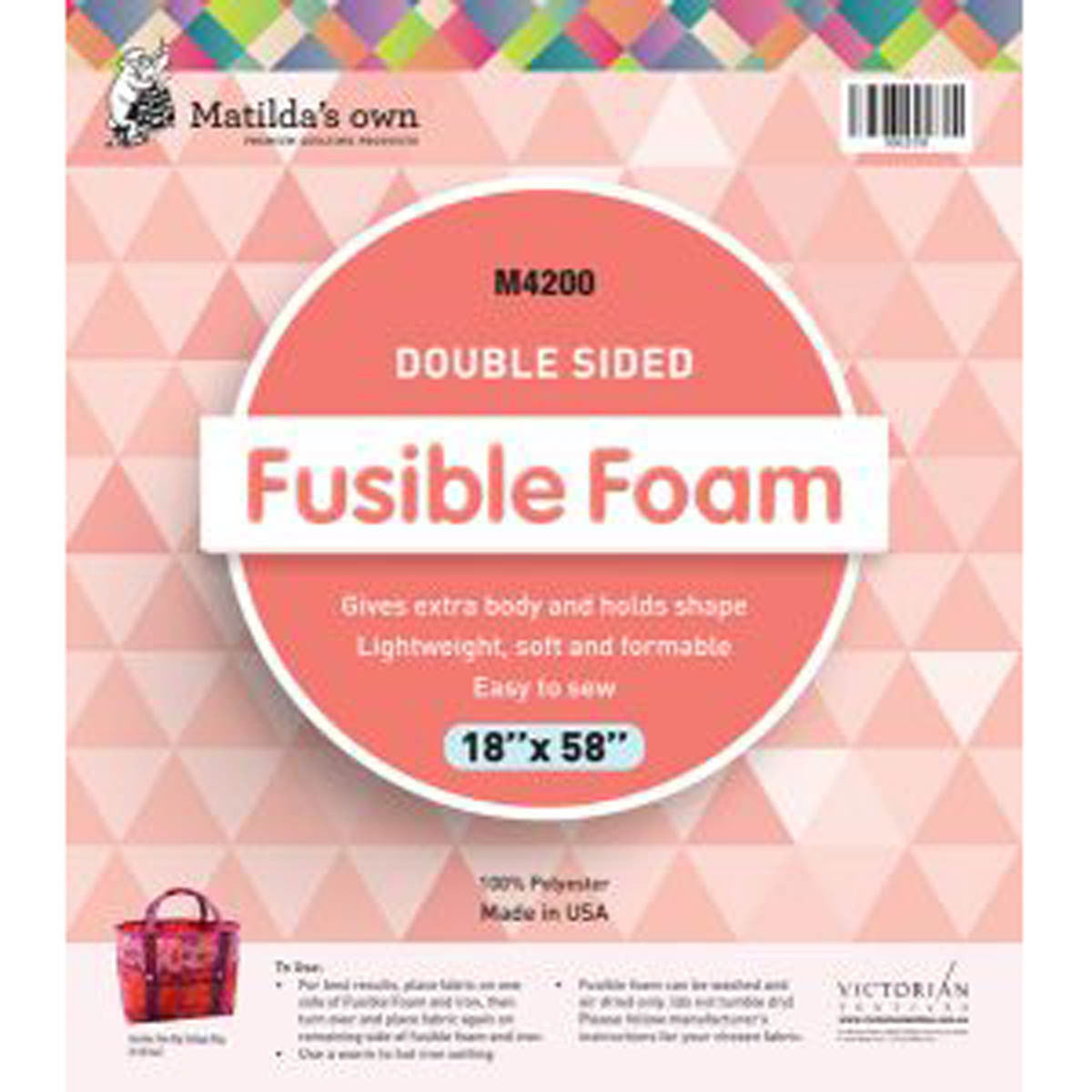 "Fusible Foam *Double- Sided - Matilda's Own - 36"" x 58"""