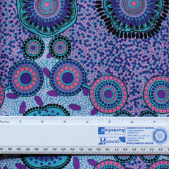 MEETING PLACES BLUE by Australian Aboriginal ArtistJOSIE CAVANAGH