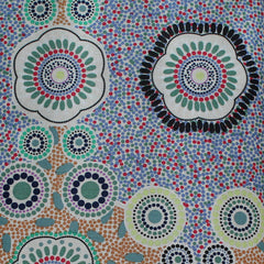 MEETING PLACES ECRU by Australian Aboriginal Artist JOSIE CAVANAGH