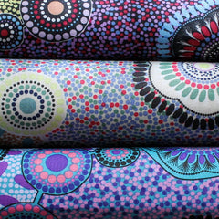 MEETING PLACES BLACK by Australian Aboriginal Artist JOSIE CAVANAGH
