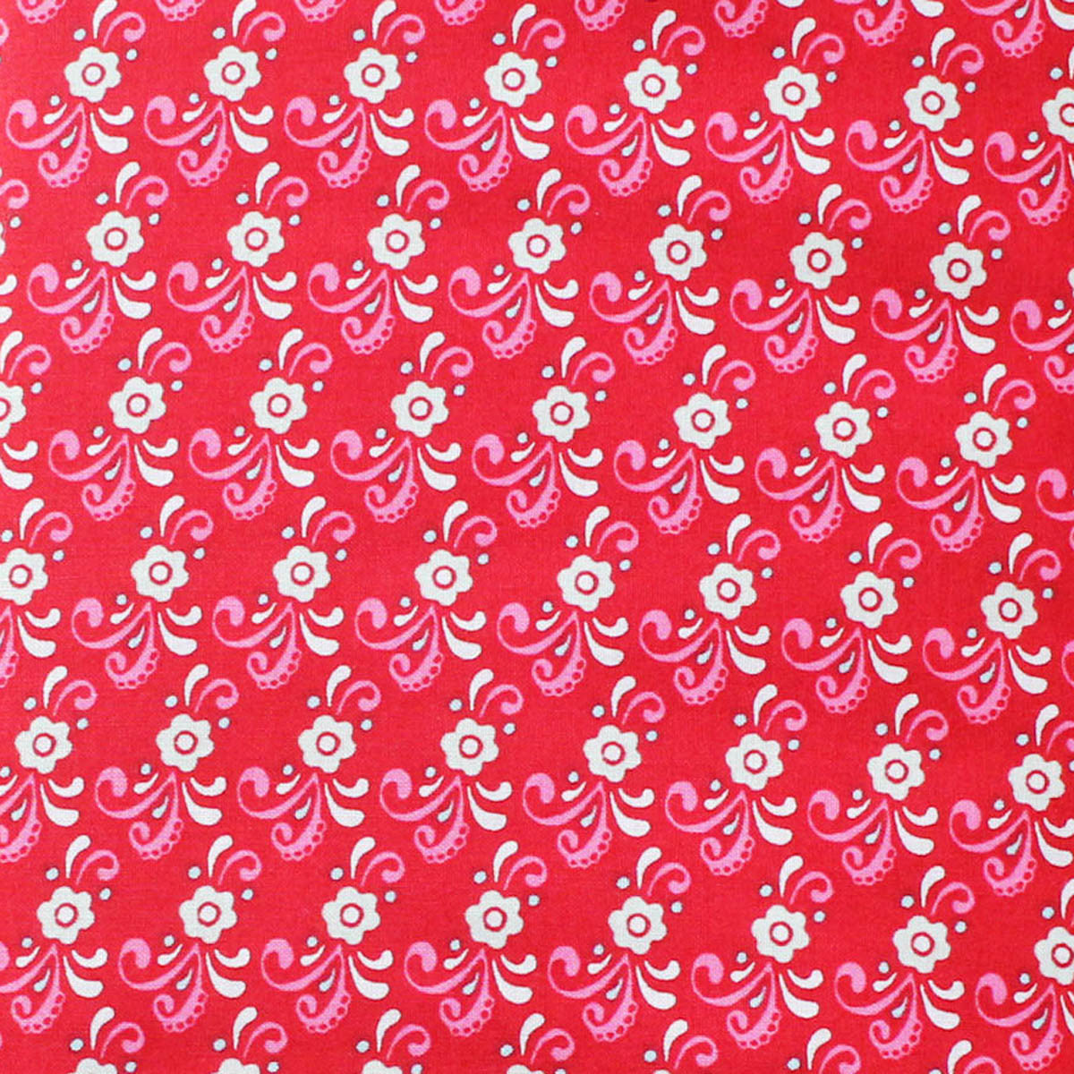 "FLOWER CHILD RED - 20 Charm Squares 5"" x 5"""