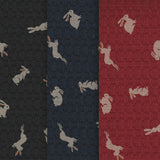 NARA (Hare) ON NAVY - Traditional Japanese Fabric